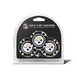 Pittsburgh Steelers NFL Set of 3 Poker Chips