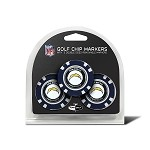 San Diego Chargers NFL Set of 3 Poker Chips