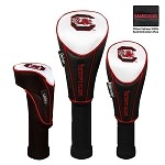South Carolina Gamecocks Nylon Graphite Golf Set of 3 Headcovers