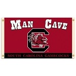 South Carolina GamecocksMan Cave 3 Ft. X 5 Ft. Flag W/ 4 Grommets