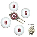 Stanford Cardinal 4 Ball Divot Tool Golf Gift Set