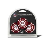 Tampa Bay Buccaneers NFL Set of 3 Poker Chips
