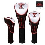 Texas Tech Red Raiders Nylon Graphite Golf Set of 3 Headcovers