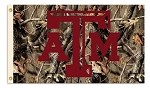 Texas A&M Aggies 3 Ft. X 5 Ft. Flag W/Grommets - Realtree Camo Background