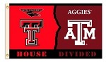 Texas Tech - Texas A&M 3 Ft. X 5 Ft. Flag W/Grommets - Rivalry House Divided