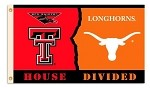 Texas Tech - Texas 3 Ft. X 5 Ft. Flag W/Grommets - Rivalry House Divided