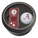 ALABAMA SWITCH DIVOT TOOL AND GOLF BALL GIFT TIN