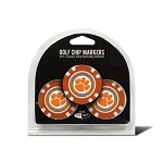 Clemson Tigers 3 Pack Poker Chip