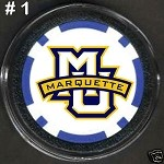 Marquette Golden Eagles Golf Poker Chip