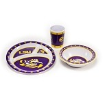 Louisiana State Tigers Kid's 3 Pc. Dish Set