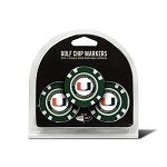 Miami Hurricanes 3 Pack Poker Chip