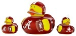 Alabama Set of Three Logo Rubber Ducks