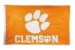 Clemson Tigers 3 x 5 Nylon Flag
