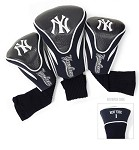 New York Yankees MLB Set Of 3 Golf Contour Head Covers