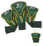 Oakland A's  MLB Set Of 3 Golf Contour Head Covers