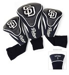 San Diego Padres MLB Set Of 3 Golf Contour Head Covers