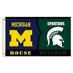 Michigan - Michigan St. 3 Ft. X 5 Ft. Flag W/Grommets - Rivalry House Divided