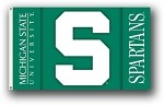 Michigan State Spartans 2-Sided 3 Ft. X 5 Ft. Flag W/Grommets
