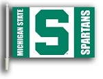 Michigan State Spartans Car Flags