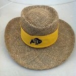 Colorado Buffaloes Straw Gambler Hat