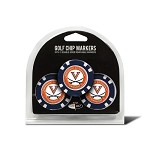 Virginia Cavaliers 3 Pack Poker Chip