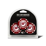 Wisconsin Badgers 3 Pack Poker Chip