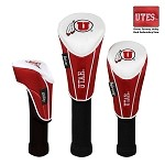 Utah Utes Nylon Graphite Golf Set of 3 Headcovers