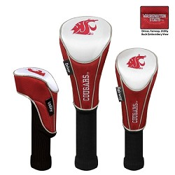Washington State Cougars Nylon Graphite Golf Set of 3 Headcovers