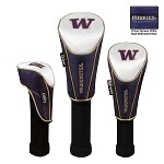 Washington Huskies Nylon Graphite Golf Set of 3 Headcovers