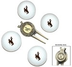 Wyoming Cowboys 4 Ball Divot Tool Golf Gift Set