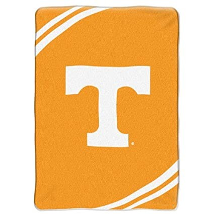 NCAA Tennessee Volunteers Force Royal Plush Raschel Throw Blanket, 60x80-Inch