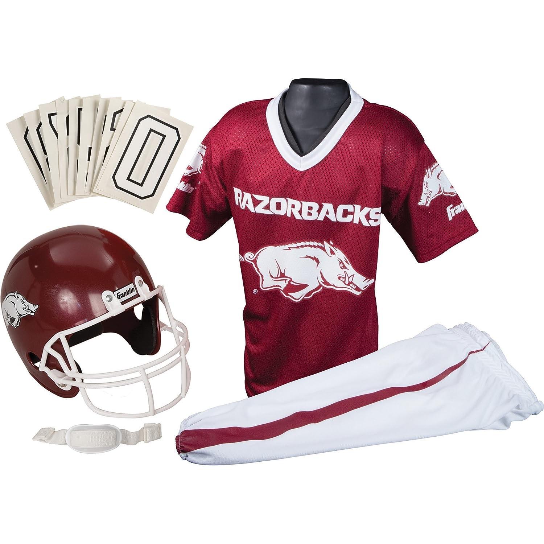 super popular 9711b 7d844 Franklin Sports NCAA Arkansas Razorbacks Deluxe Youth Team Uniform Set,  Medium